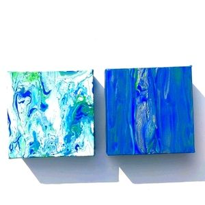 Set of 2 original abstract paintings
